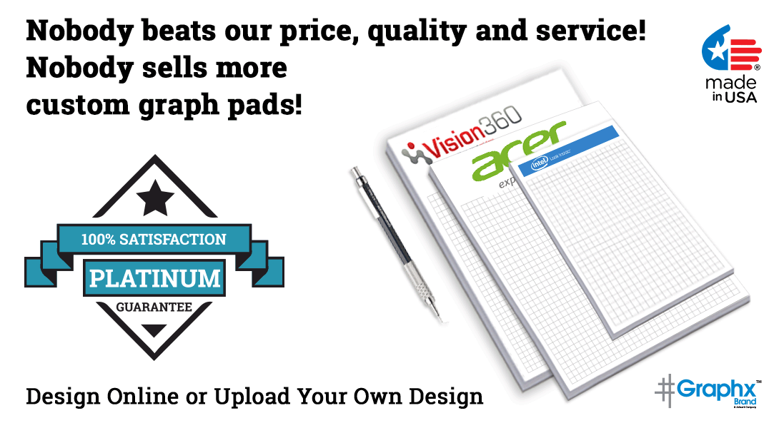 graph paper pad with logo