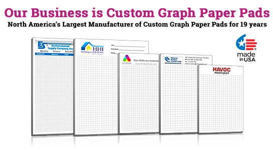 custom graph paper pad