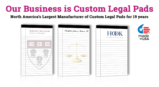 customizable legal pads