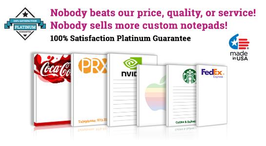 custom logo notepads