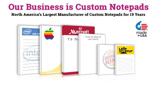 eco-friendly custom notepads