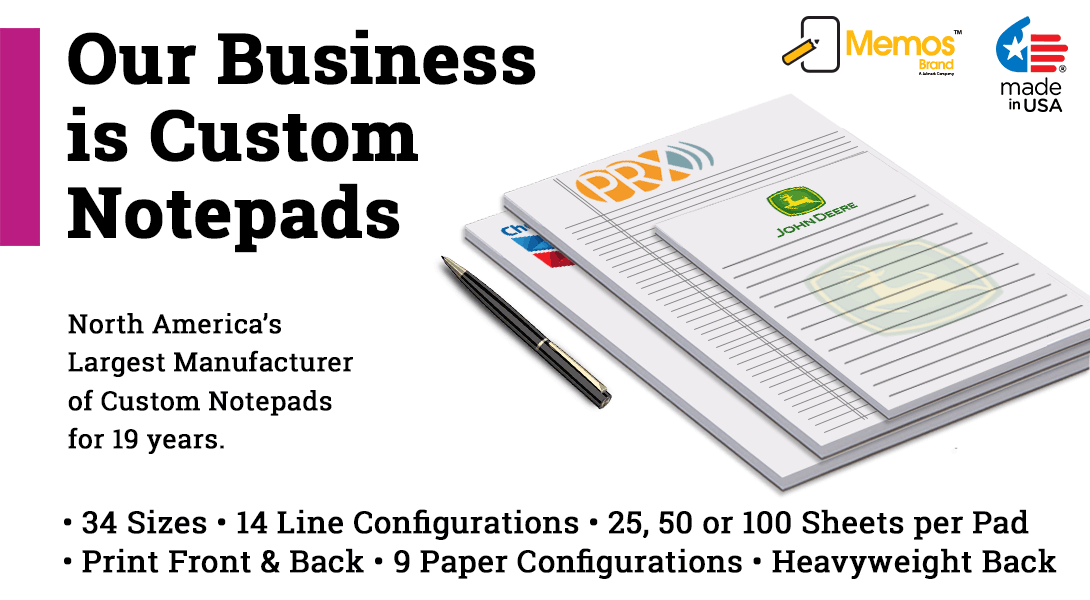 Legal size custom note pads