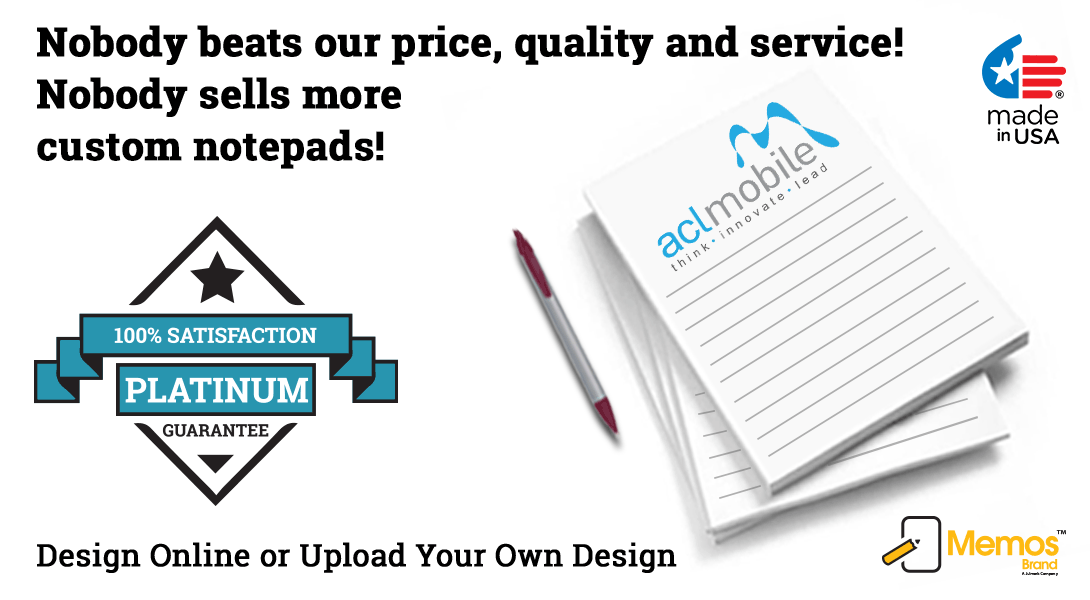 personalized logo notepads