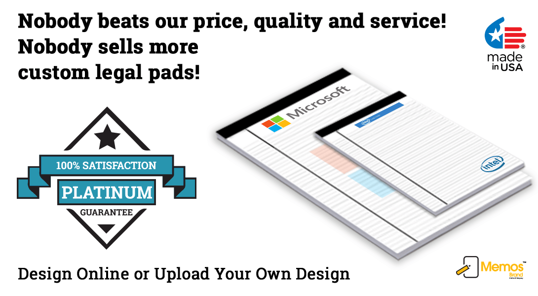 custom legal pads