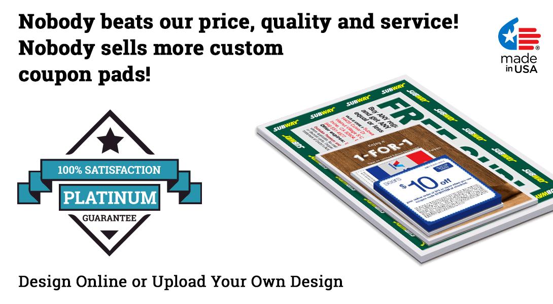 printed coupon pads