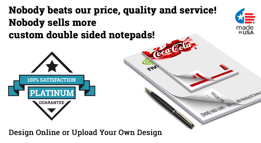 personalized notepads double sided