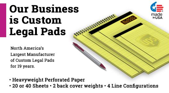 custom logo legal pads