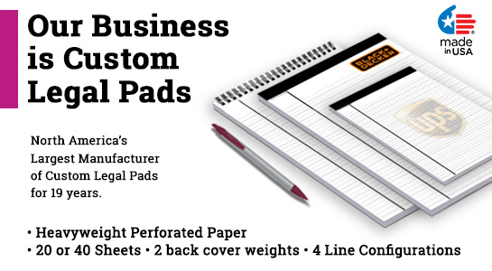 Custom double side legal pads