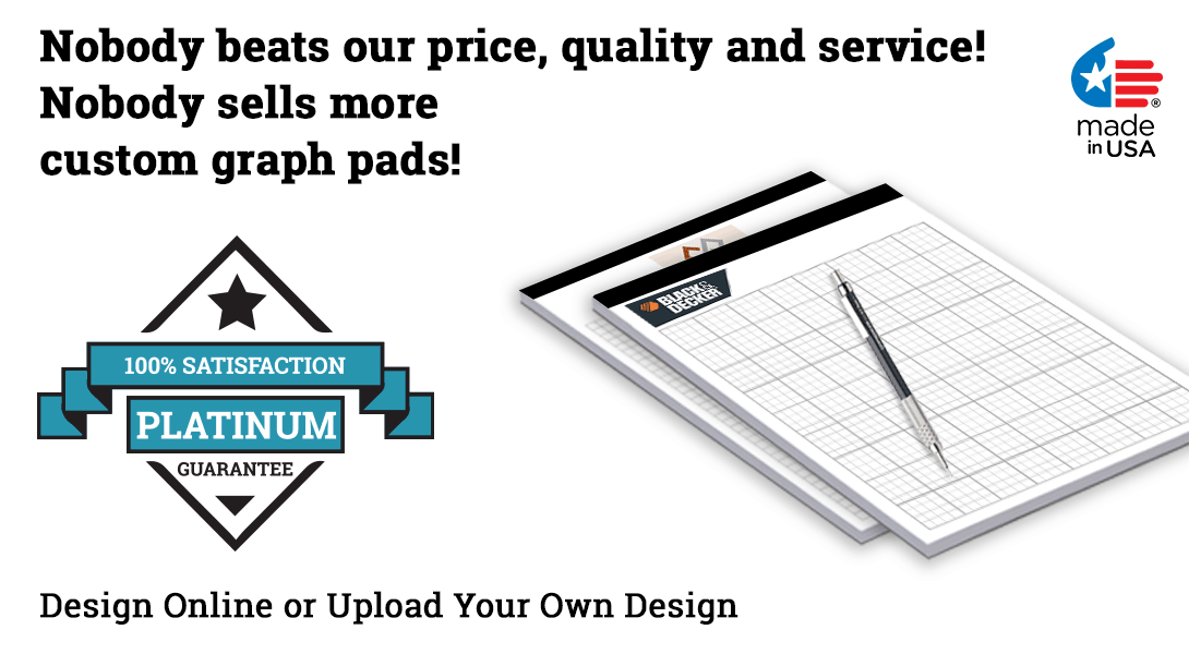 personalized legal pads with graph paper pad