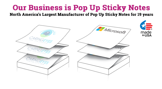 pop-up custom printed post it notes