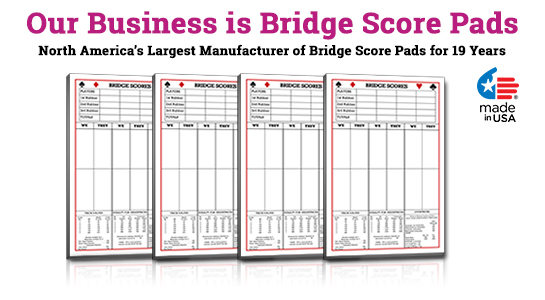 bridge score sheets