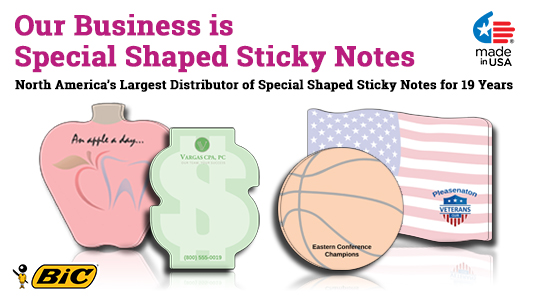 special shape custom sticky pads