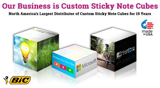 sticky note cube