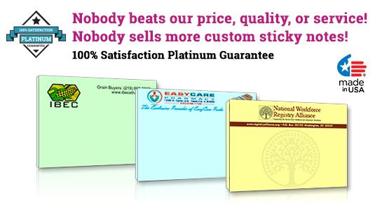 custom sticky note pads